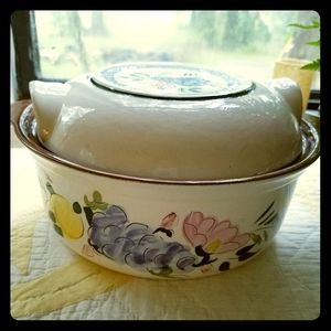 Hand Painted Stangl Vintage Covered Casserole Dish
